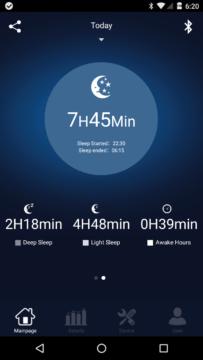 Elephone W2 – aplikace – měření spánku