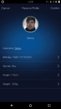 Elephone W2 – aplikace – nastavení uživatele