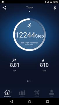 Elephone W2 – srovnání měření kroků s Xiaomi MiBand 1S