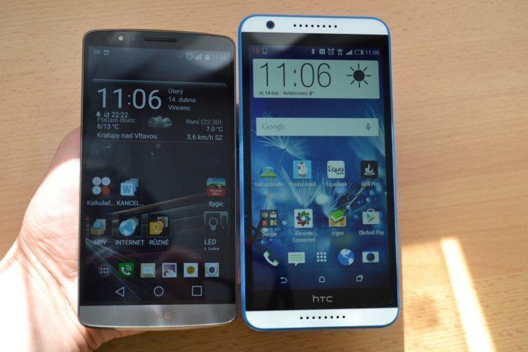 HTC Desire 820 - porovnání s LG G3
