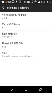 HTC Desire 820 -  systém Android 4.4.4