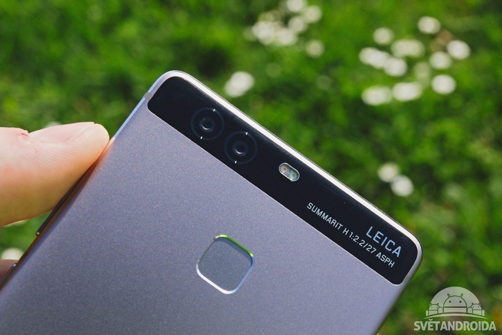 Huawei P9 fotoaparát a čtečka