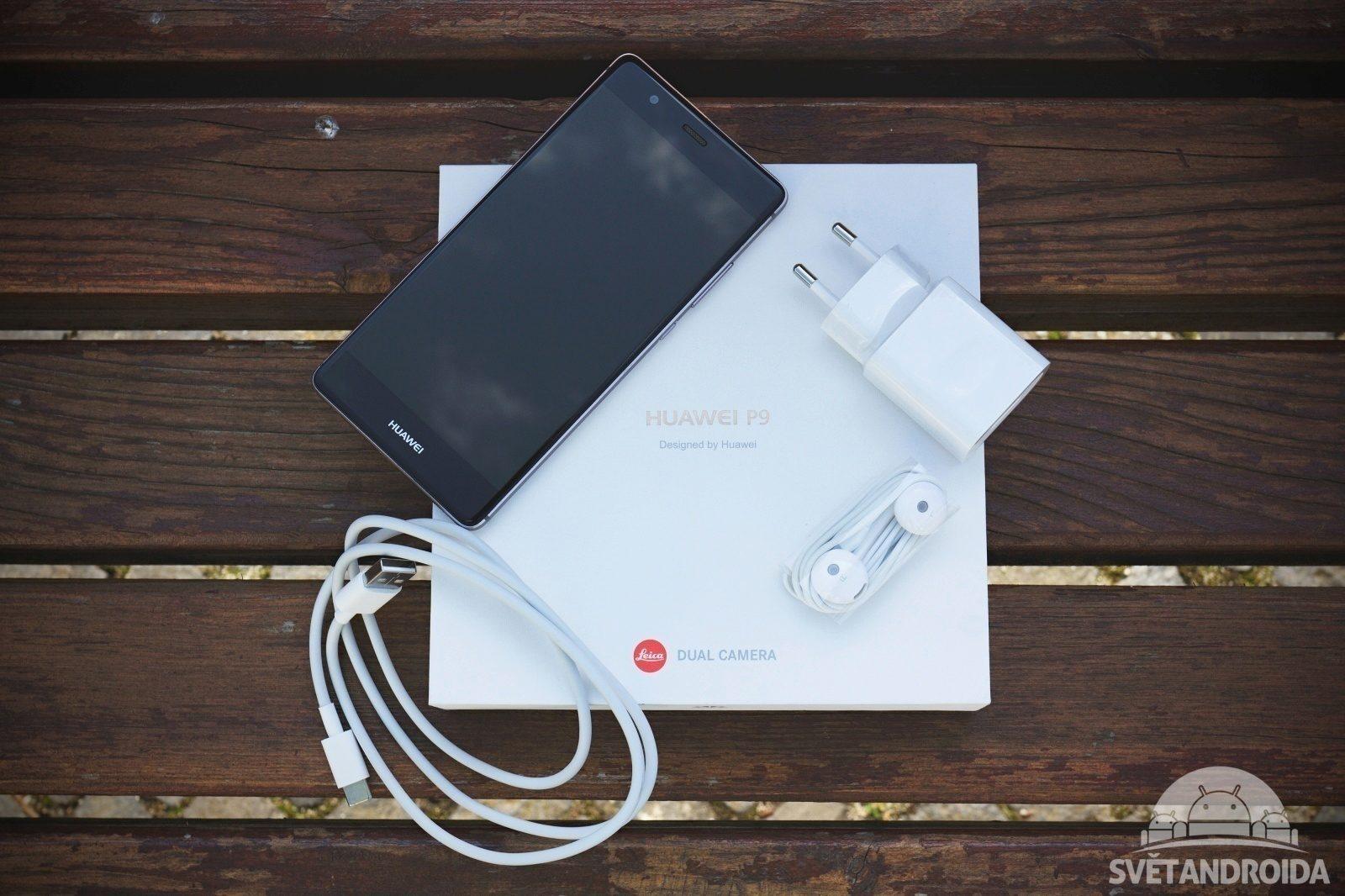 Huawei P9 obsah balení