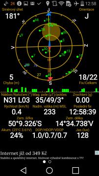 LG G Flex 2 - GPS satelity