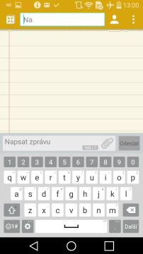 LG G Flex 2 - klávesnice