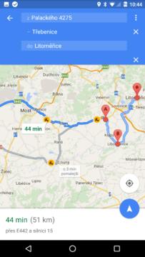 Mapy Google – více cílů (2)
