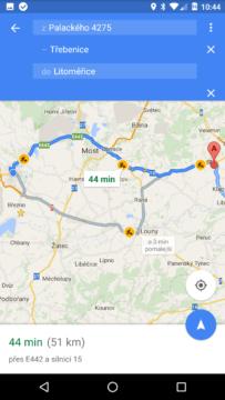Mapy Google – více cílů