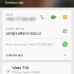 Samsun Galaxy S6 Edge –  Dialer a kontakty (3)