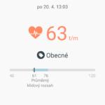 Samsun Galaxy S6 Edge –  aplikace S-Health (2)