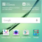Samsun Galaxy S6 Edge –  domácí obrazovka