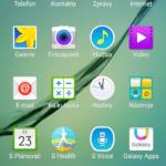Samsun Galaxy S6 Edge –  menu aplikací)