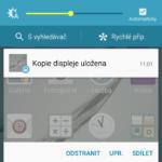 Samsun Galaxy S6 Edge –  notifikační lišta (1)
