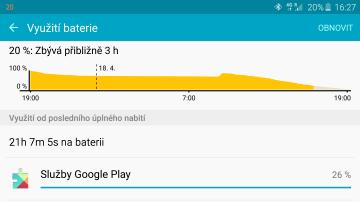 Samsun Galaxy S6 Edge - výdrž baterie (2)