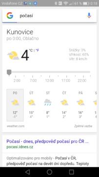 google play počasí