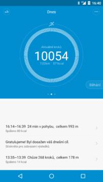 Xiaomi MiBand 1S – dosažen cíl