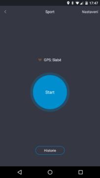 Xiaomi MiBand 1S – start cvičení