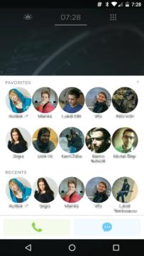 Yahoo Aviate Launcher - rýchlý přístup k oblíbeným kontaktům