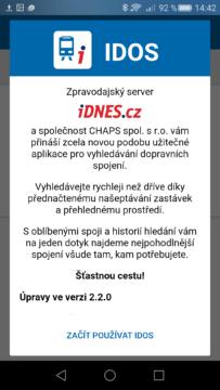 aplikace IDOS (2)