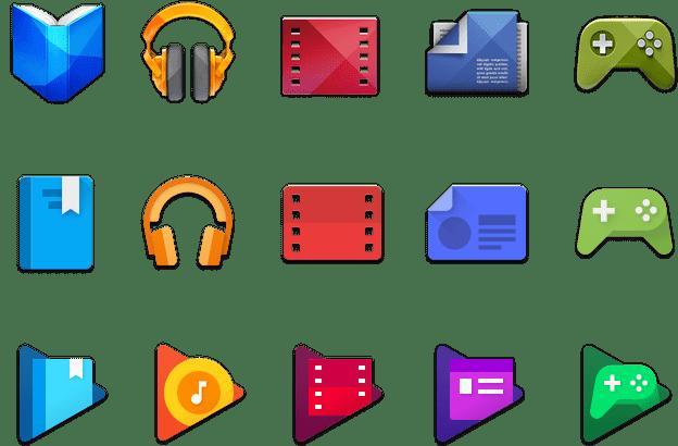 Historický vývoj ikonek Google Play