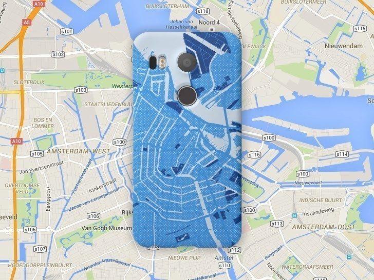 Mapa s aplikovanými grafickými efekty