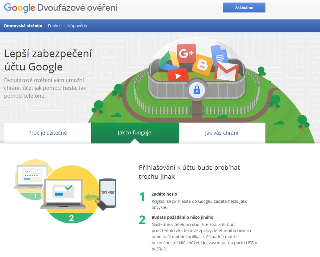 Dvoufázové ověření v podání Googlu