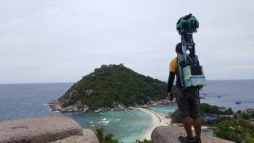 Batoh s 360kamerou pro pořizování snímků Street View
