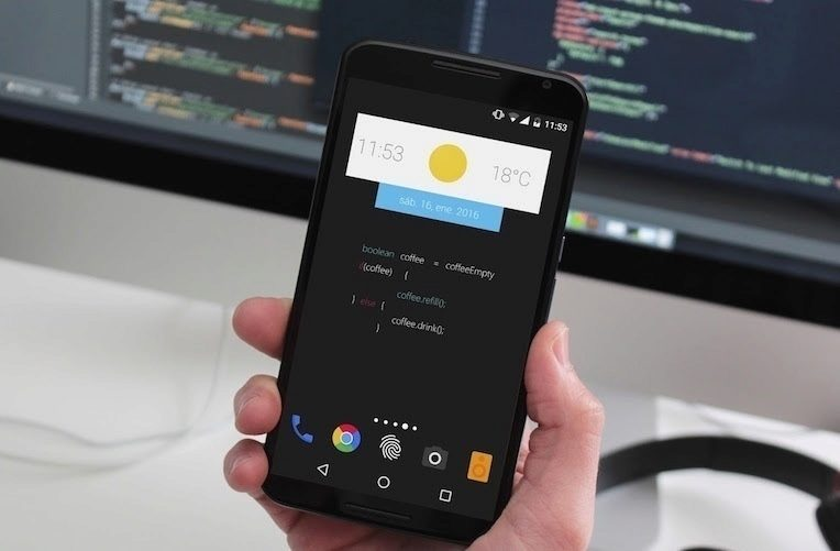 zooper widgety náhled aplikace