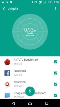 Zobrazení běžících aplikací
