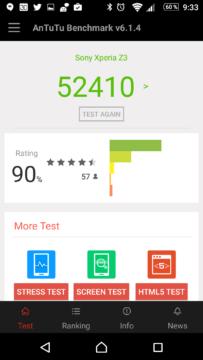 Výsledky AnTuTu po vylepšení výkonu