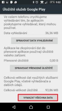 Vymazat všechna data