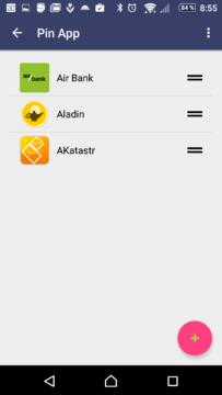 Připnutí oblíbených aplikací
