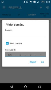 Směrování a blokování domén
