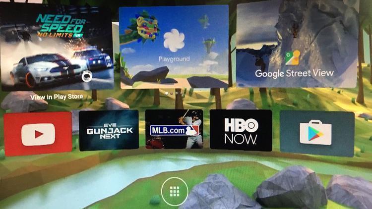 Daydream Vituální Realita - rozhraní