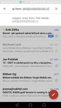 Gmail Android – tipy a triky 4