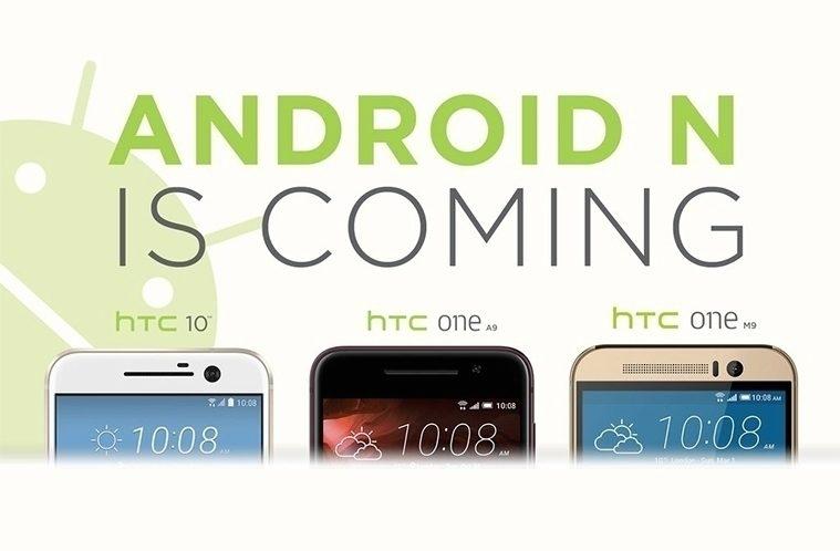 HTC a Android N – náhleďák