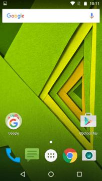 Moto X Play – domovská obrazovka