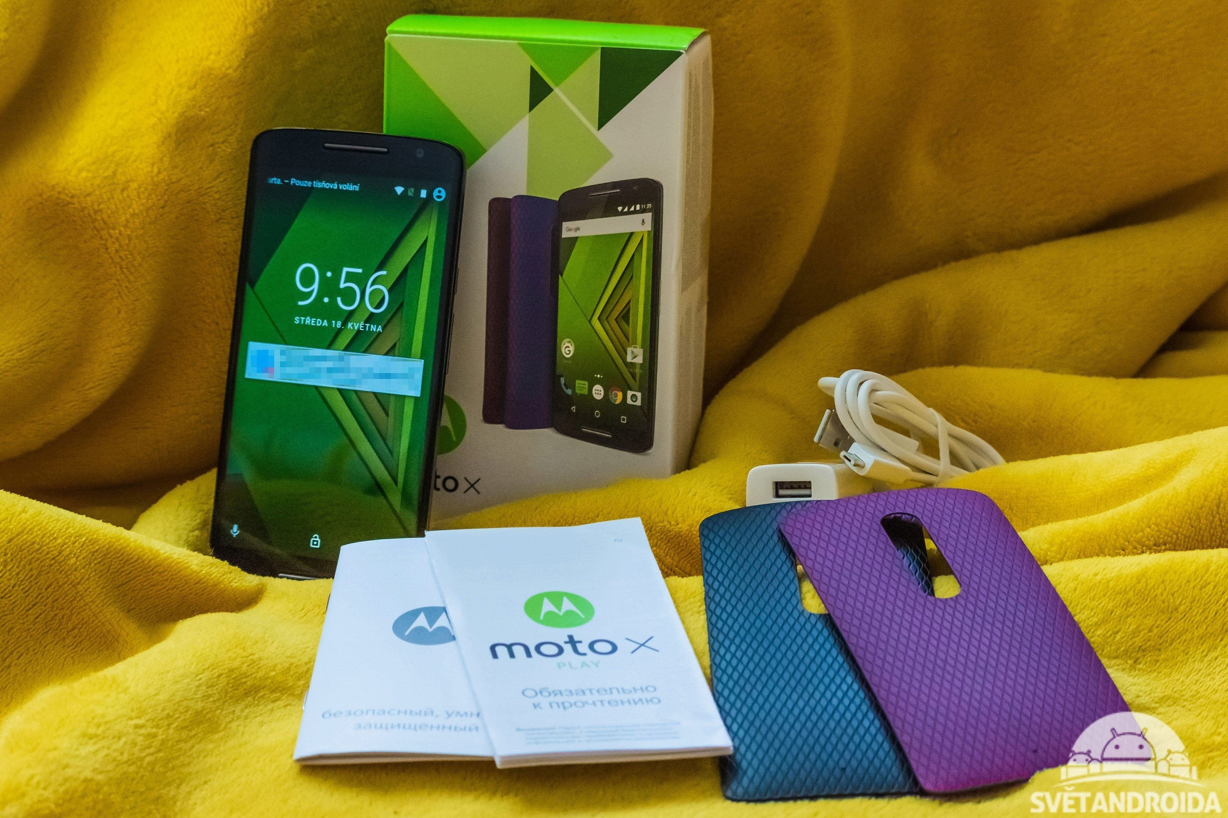 Moto X Play - obsah balení
