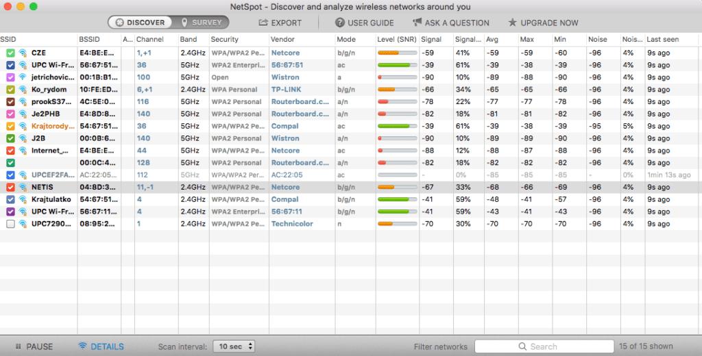 WiFi analyzer pro MAC