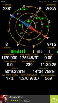 Xiaomi Mi4i -  GPS satelity