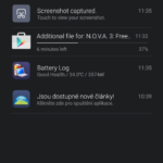 Xiaomi Mi4i –  prostředí systému,  notifikační lišta (1)