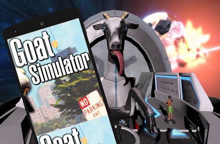 goat simulator space