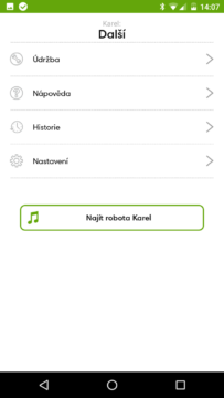 iRobot Home – menu další