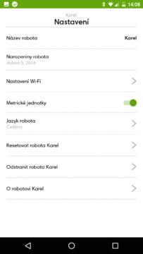 iRobot Home – nastavení robota