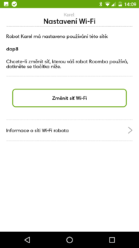 iRobot Home – nastavení wifi