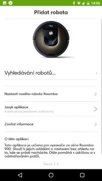 iRobot Home – přidání robota