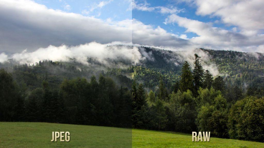 Porovnání rozdílu mezi formáty JPEG a RAW