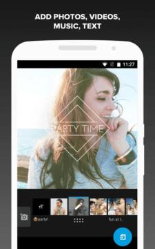 Přidejte fotky, videa, hudbu a text