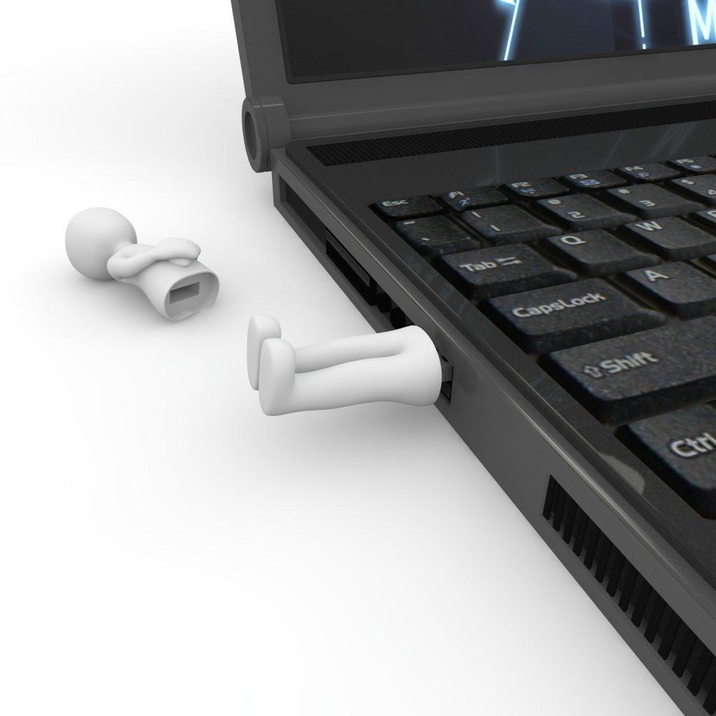 Na vině může být také vadný USB port