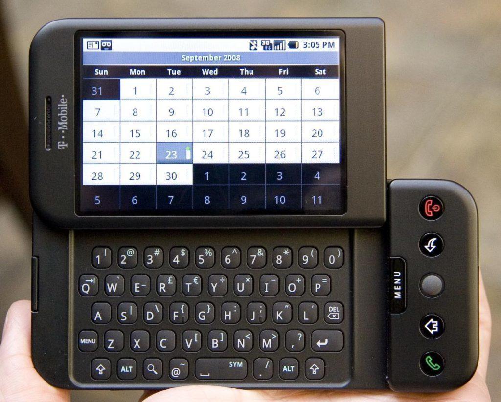 T-Mobile G1, známý také jako HTC Dream
