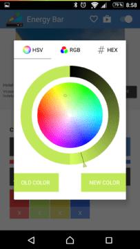 Možnosti nastavení barevného přechodu